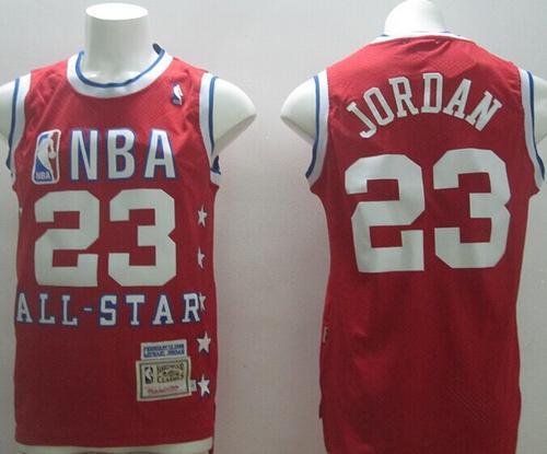 4fdd16ff4 1992 All Star Mitchell And Ness Bulls #23 Michael Jordan Red Stitched NBA  Jersey